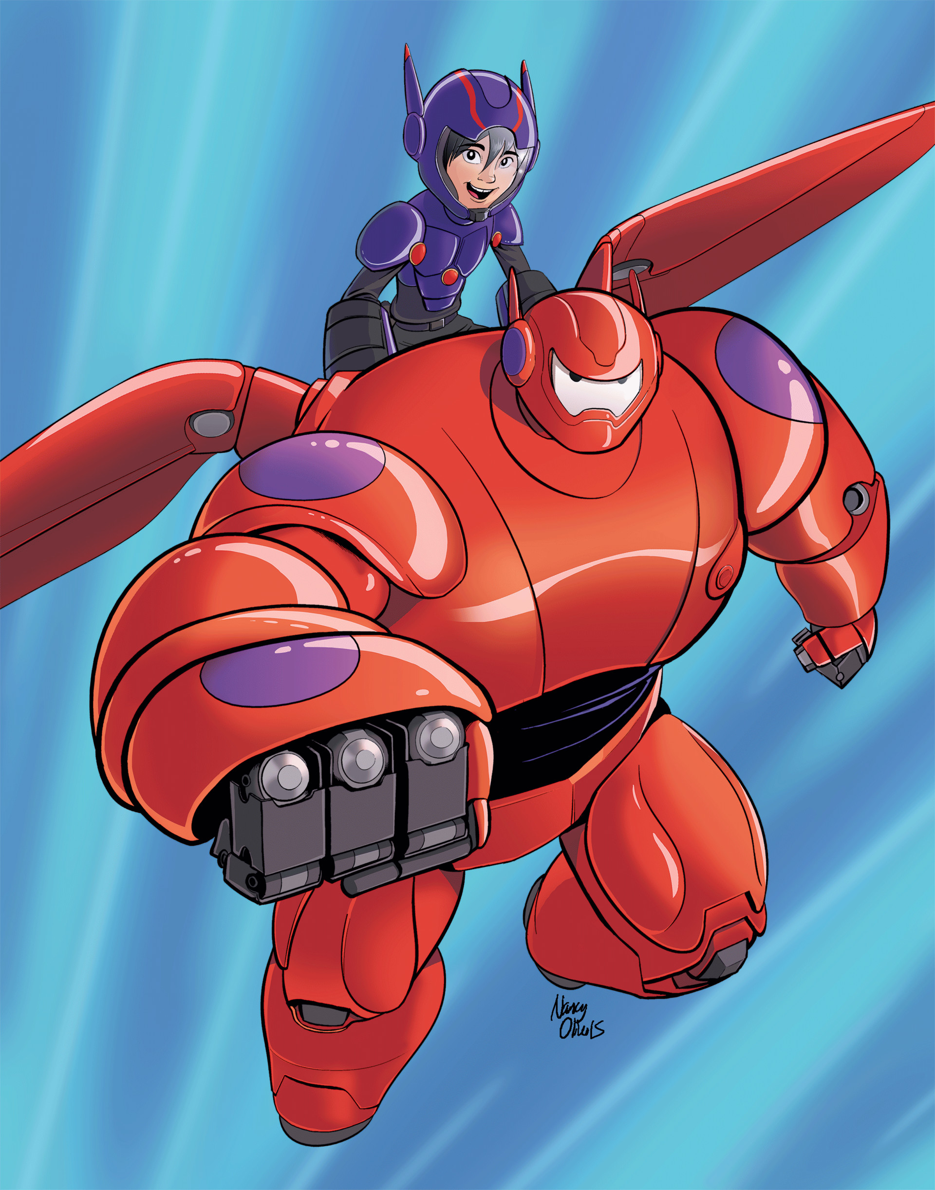 ArtStation - Big Hero 6 poster, Nancy Olivo | Big hero 6 ...