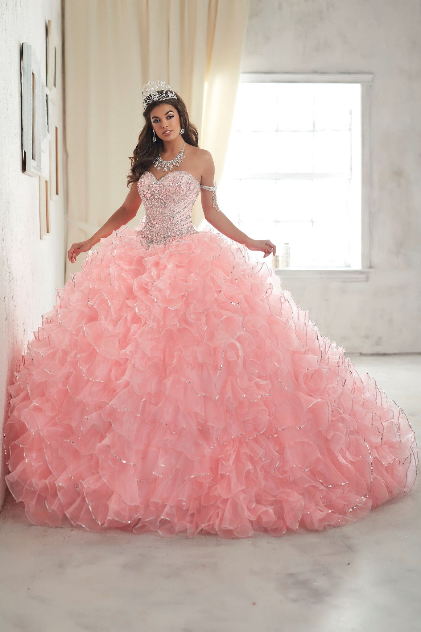 577bd586b91 Look and feel beautiful in a House of Wu Quinceanera Dress Style Number  26845 during your Sweet 15 party or any formal event.