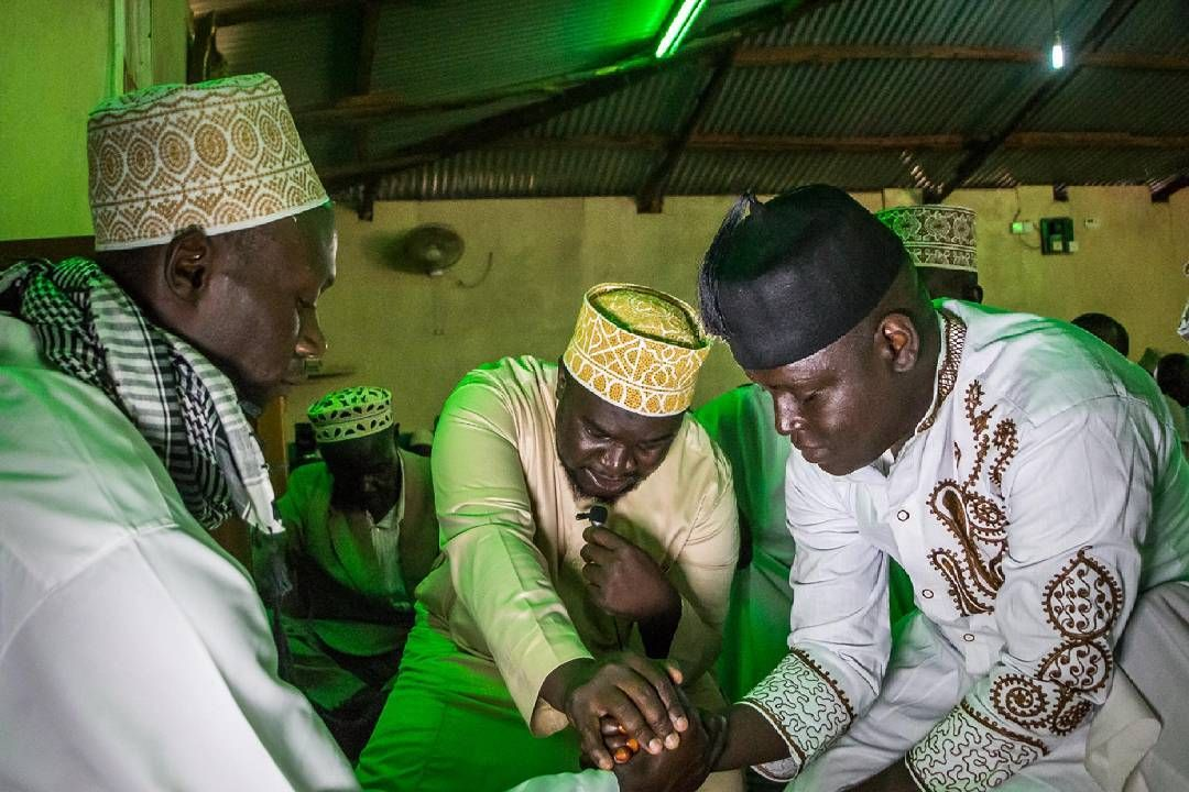 Sheikh Presiding Over The Marriage Or Nikah Which Is Tying Of Knot In Nubian