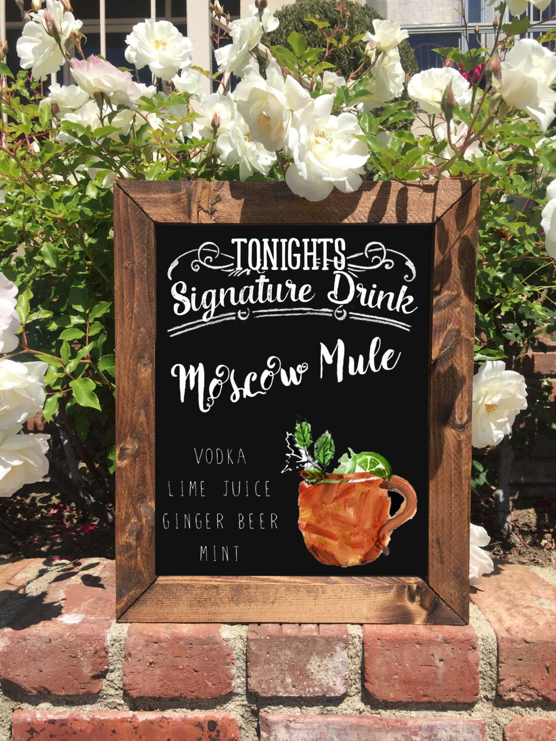 Moscow Mule Signature Drink Sign by The Heart and Hand | Our Rustic ...