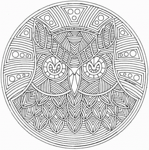 Detailed Abstract Coloring Pages For Teenagers Vfgrs | Mandalas ...