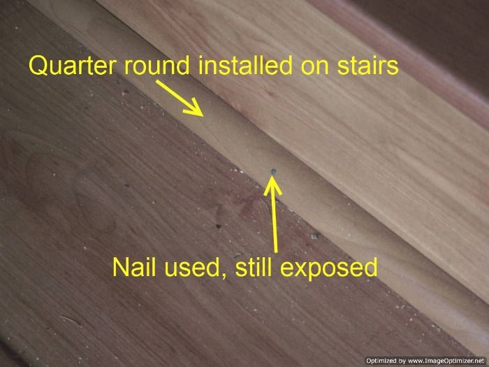 Laminat badezimmer ~ Bad laminate stair installation it had quarter round installed on