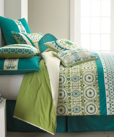Pretty Teal Amp Green Bedding Love This One Comforter