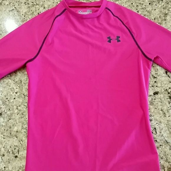 pink under armour compression shirt