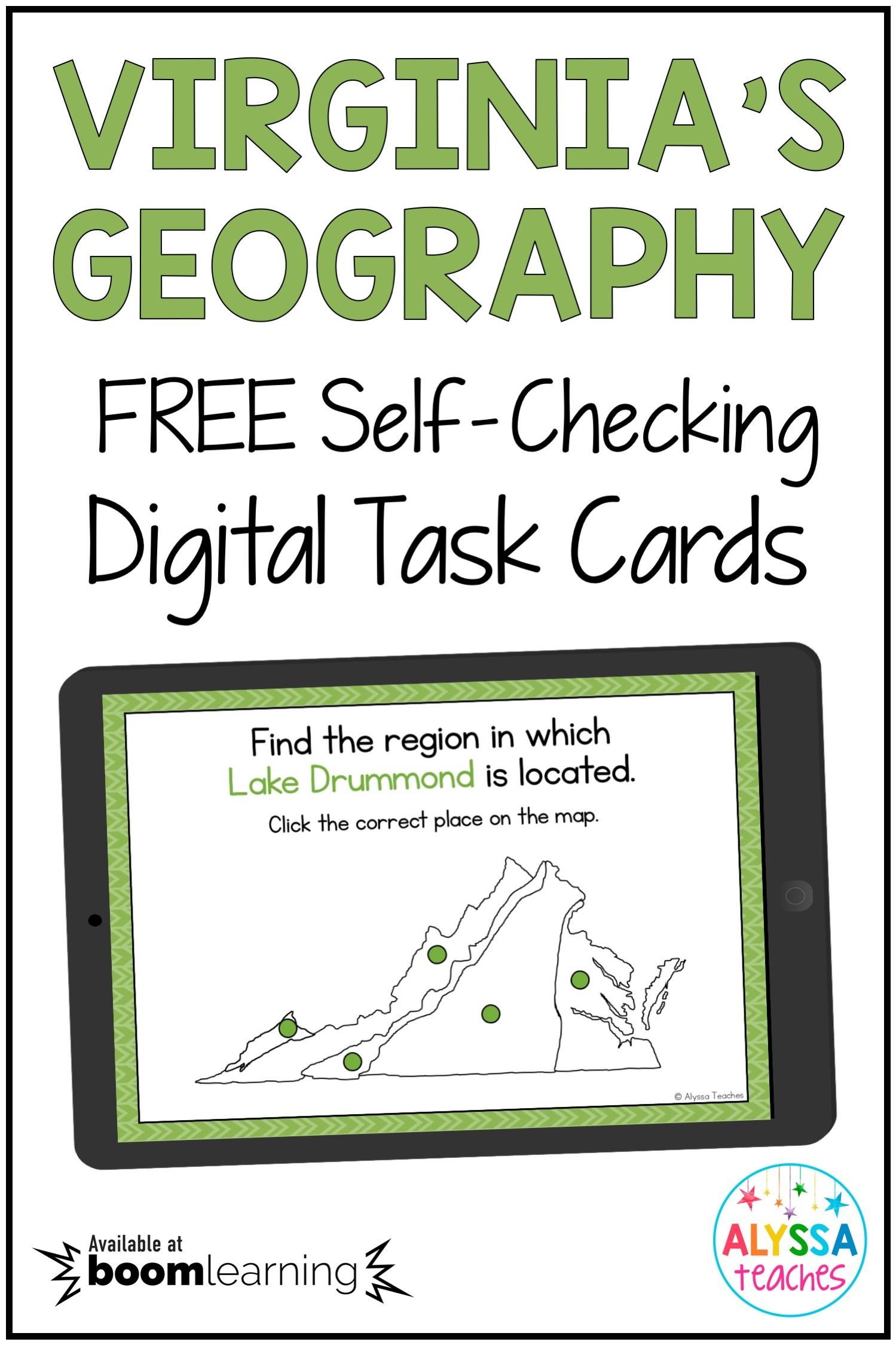 Virginia S Geography Map Review Vs 2 Digital Boom Cards