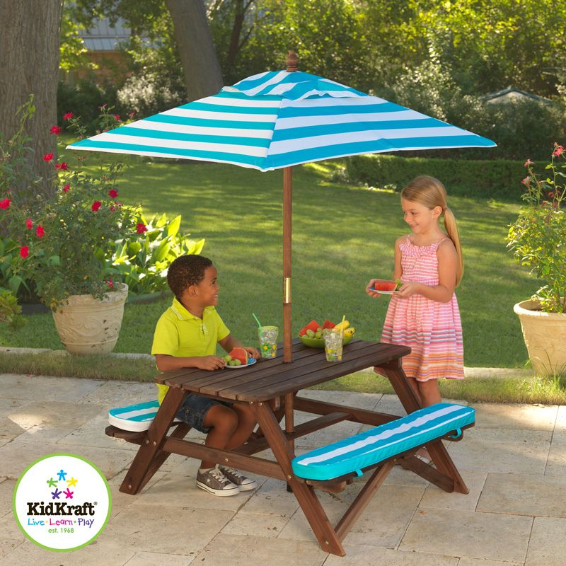 Costco Uk Kidkraft Picnic Table And Umbrella Set 3 Years