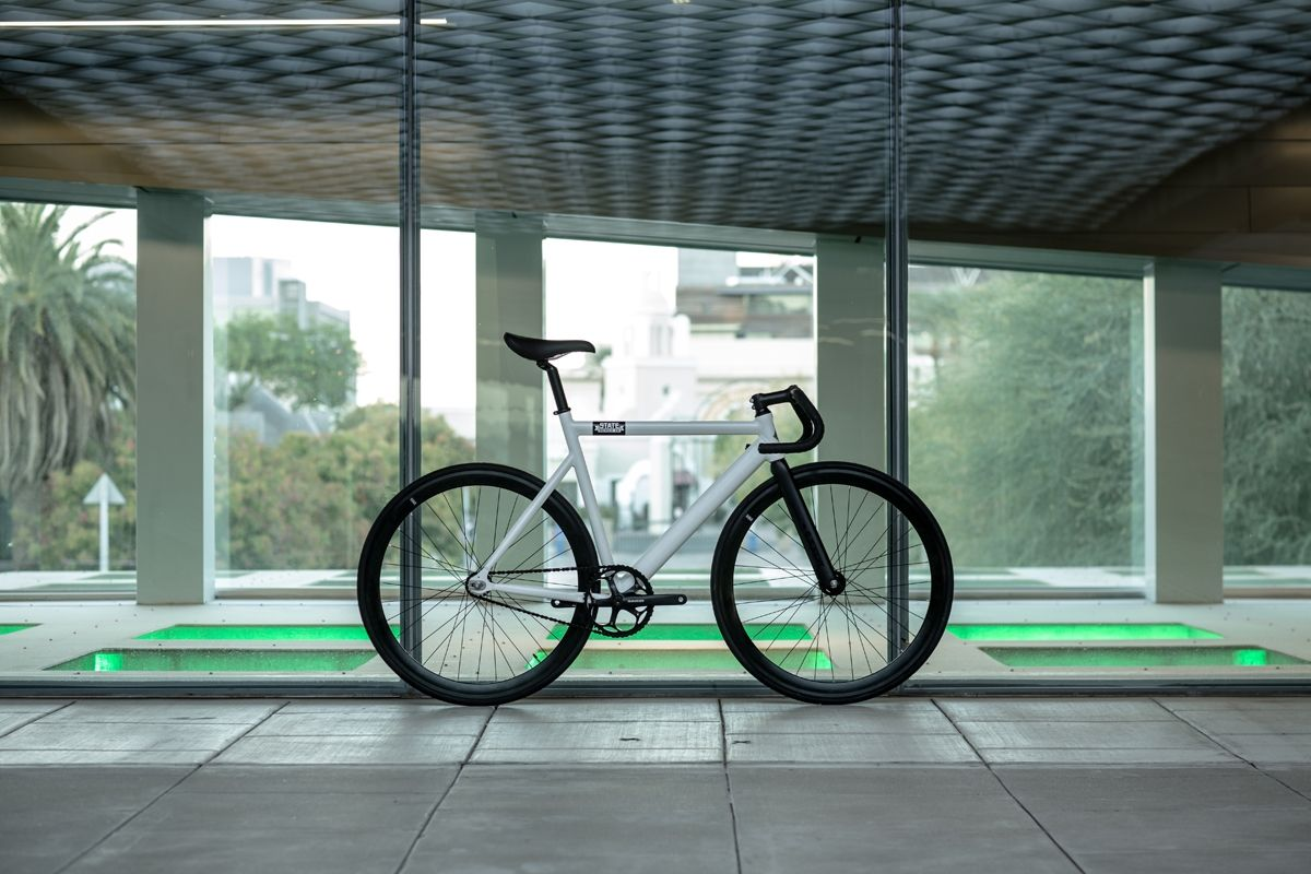 Custom Track Bike 6061 Black Label Pearl White State Bicycle