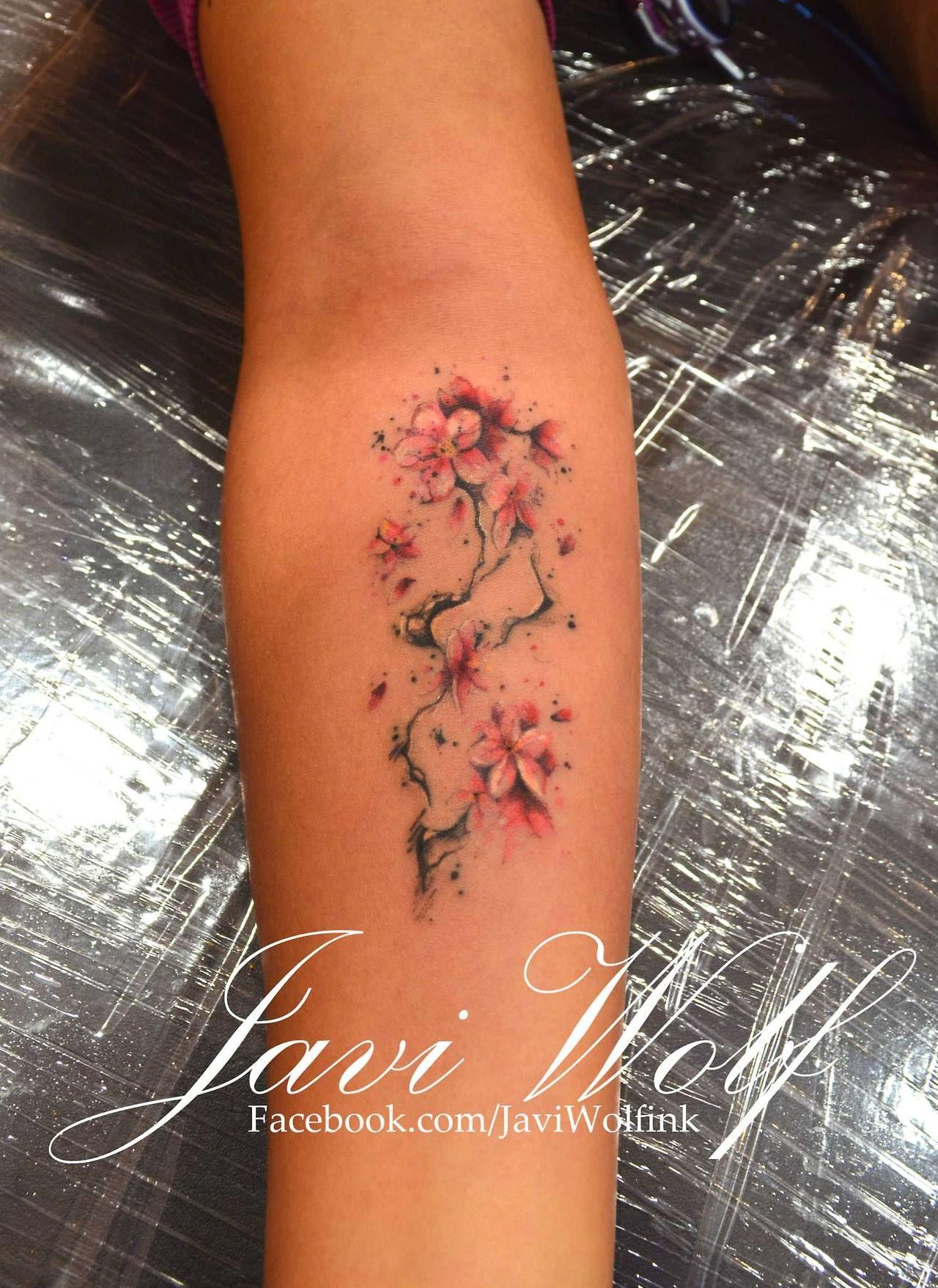Cherry Blossom Tattooed By Javi Wolf Tattoo Pinterest