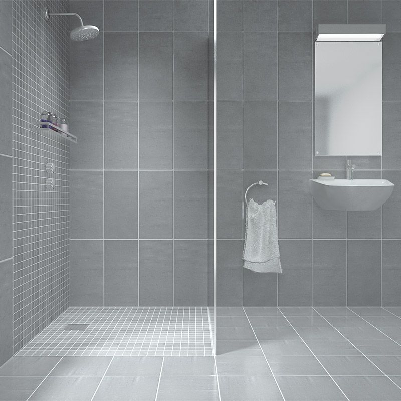 We love the use of Zenith Cinza mosaic in this shower ...