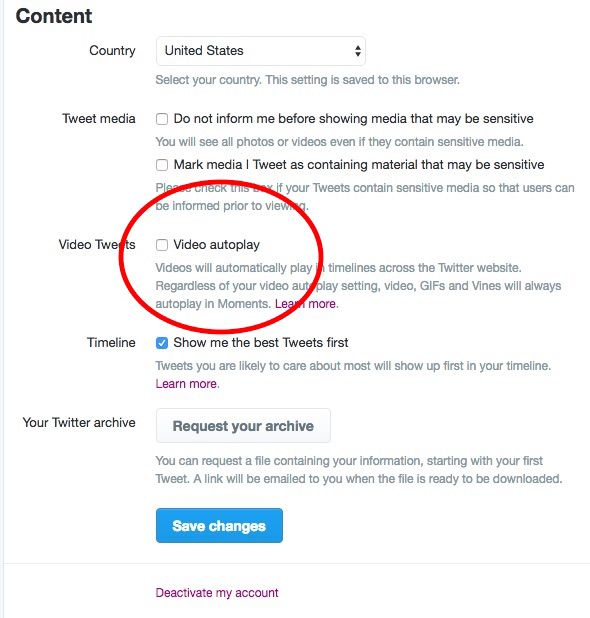 Here S How To Disable Video Autoplay On Facebook And Twitter Video Twitter Disability