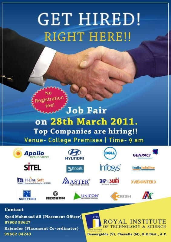 Get Hired And Be Ready  Job Fair Sample Poster