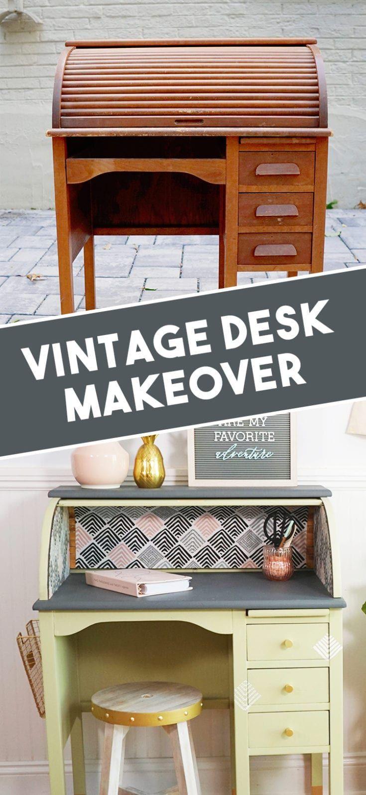 before after vintage roll top desk makeover desk on desk color ideas id=58876