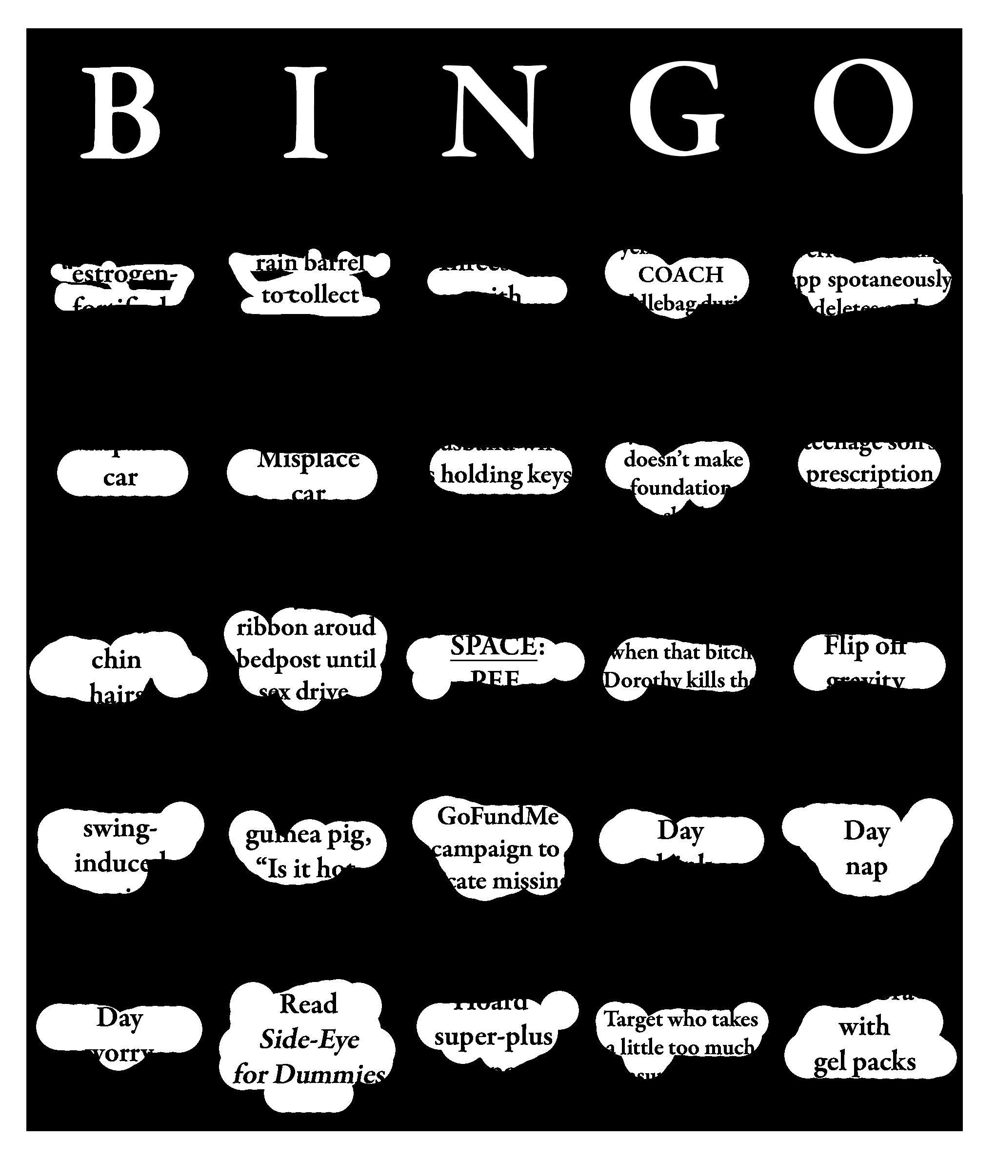 Perimenopausal Bingo Bingo Night Sweats O Design