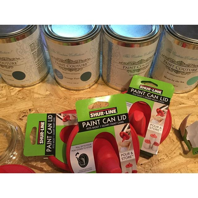 Love These Quart Size Paint Can Kids They Keep Your Paint Fresh And Makes Pouring Paint Easy Breezy With Less Paint Cans Paint Couture Furniture Painting Tips