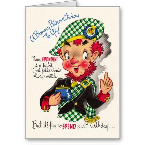 Funny Scottish Birthday Card Zazzle Com Happy Birthday Greeting Card Happy Birthday Meme Birthday Wishes Funny