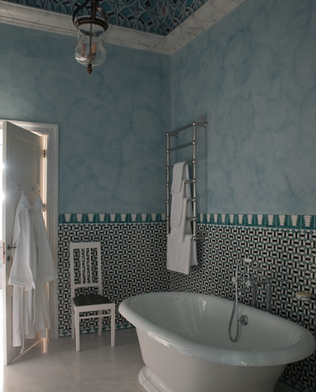 Unbelievable tile work designed by Jacques Grange in an Italian palazzo, Villa Margherita (owned by Francis Ford Coppola).