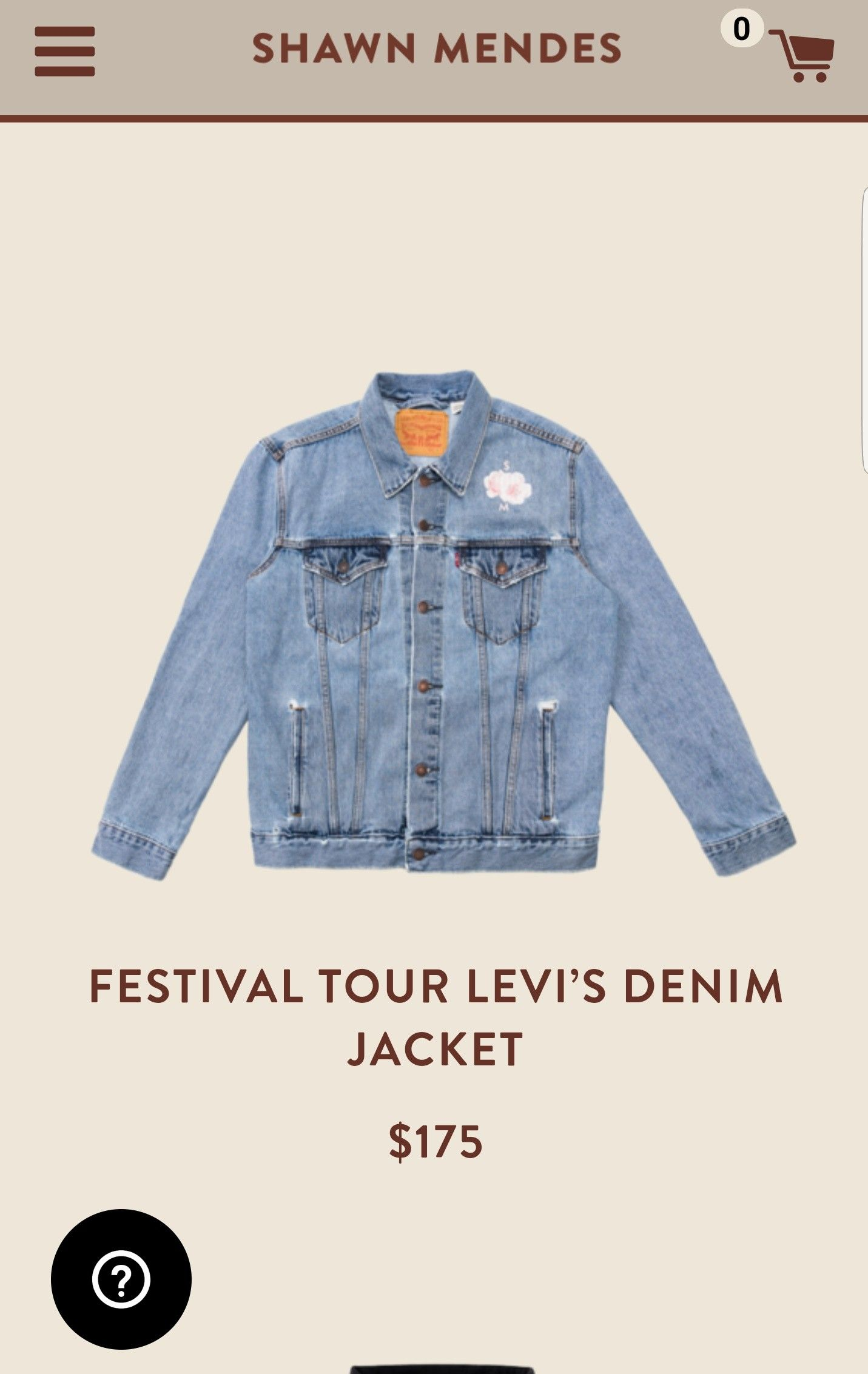 533aeb055 Shawn Mendes the tour Levi's Demin Jacket 175$... 😭😭😭❤ | The ...