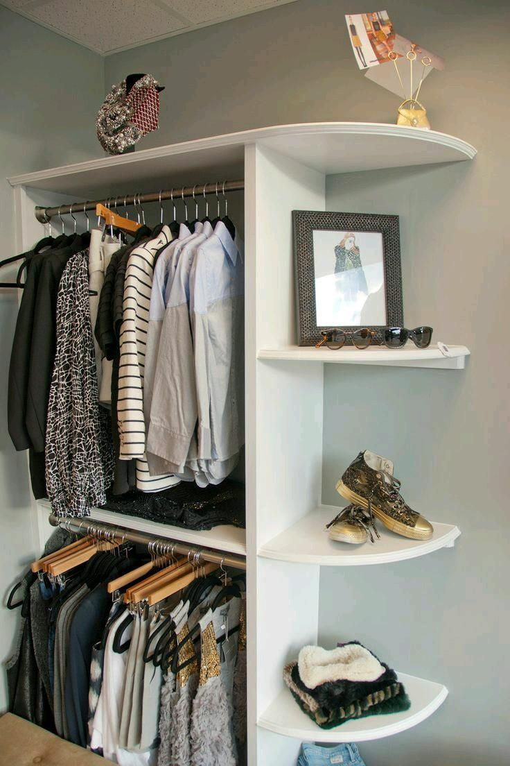 Open closet excelente idea para organizar en espacios pequeños ...