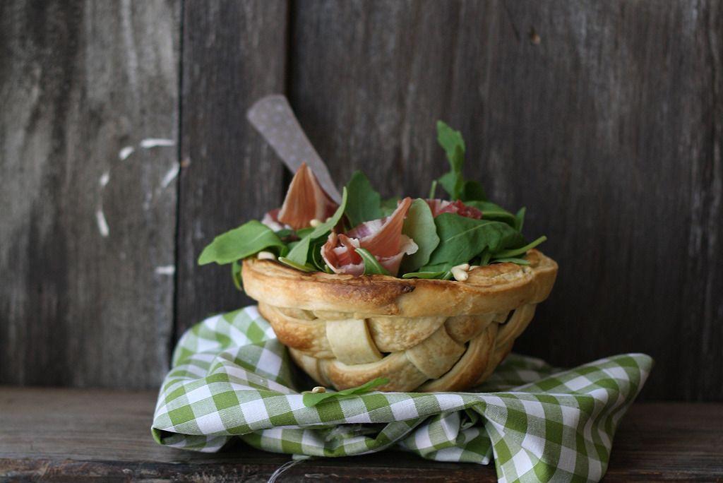 Salad Lattice Bowl - La receta de la felicidad ( Extra virgin olive oil Pie crust)