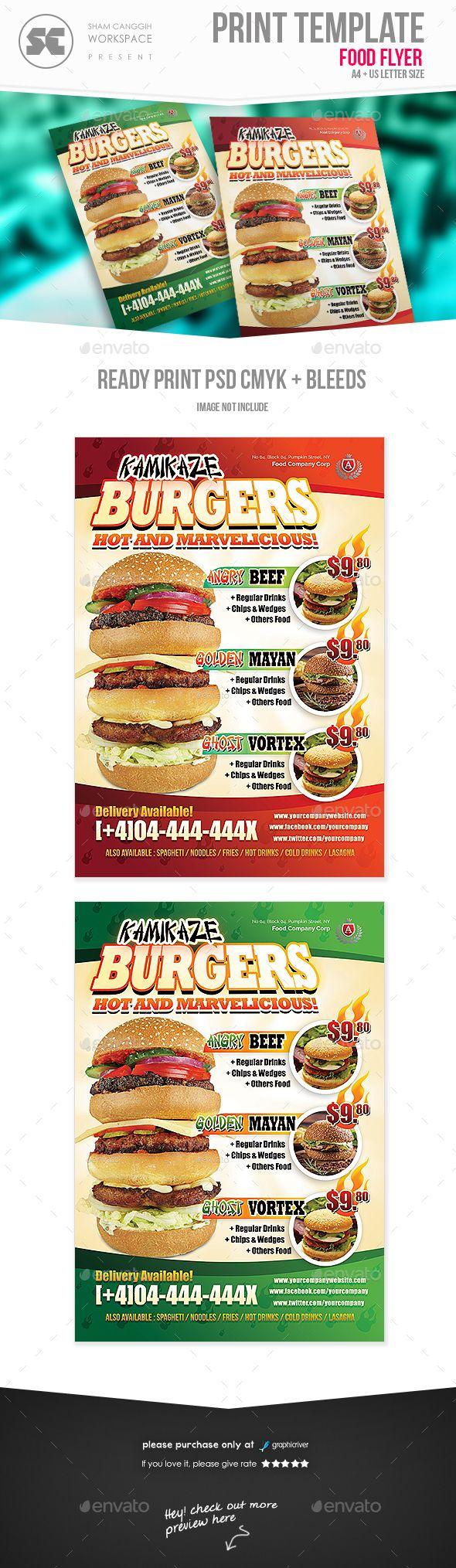 Food Restaurant Flyer  Restaurants Flyer Template And Template