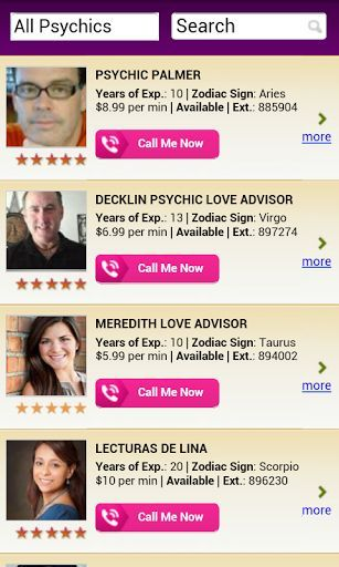 Are you interested what to expect about the future and about your career, money and finance? Get in contact with a real psychic through this app. Choose your favorite fortuneteller out of the most experienced clairvoyant readers in the US. Ask one question absolutely free and receive your horoscope for your zodiac sign. If you like you can choose your favorite reader who you think fits best for your personal reading. Tarot Cards, Numerology, Astrology, Spiritual Health, an expert is next to…