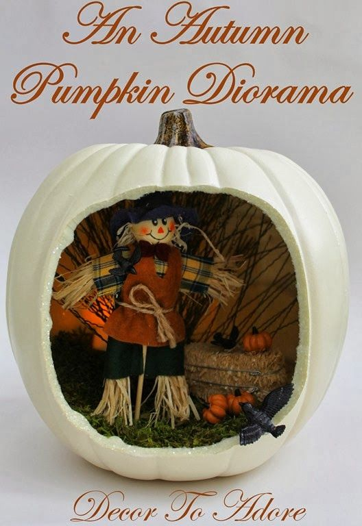 Fun Fall Craft~ A Pumpkin Diorama - Decor to Adore