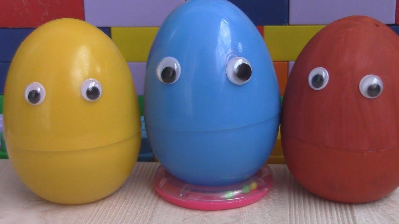 Сюрприз яйца! Учим цвета на английском языке. Игрушки ...