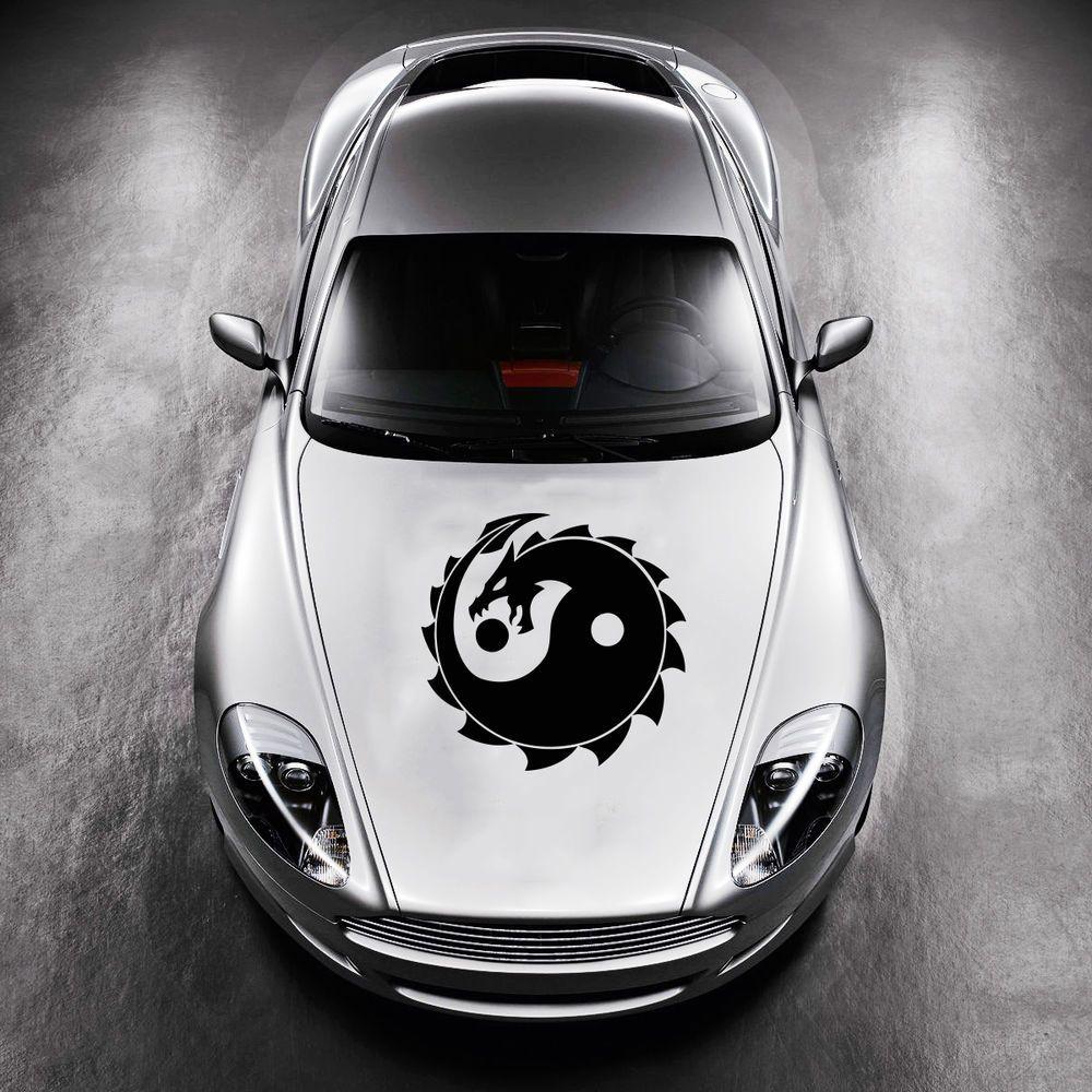 Dragon Taoism Sign Yin and Yang HOOD CAR VINYL STICKER