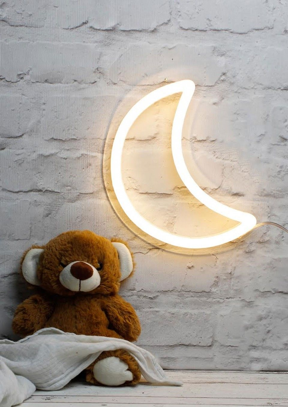 The adorably cute Moon LED Neon Sign Light is the perfect