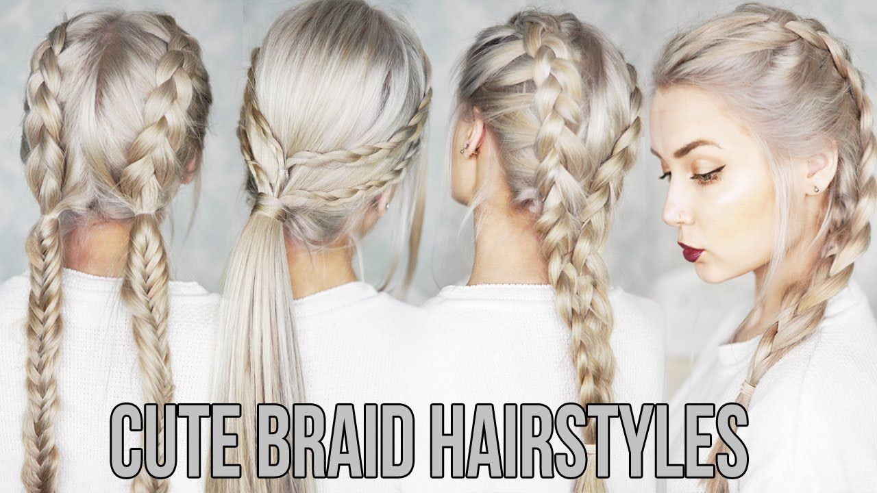 Leading 3 CUTE & EASY Pigtail Hairstyles -  http://www.aboutfitnesshealth.com/all-categories/celebrities-… | Braided hairstyles  easy, Easy braids, Braided hairstyles