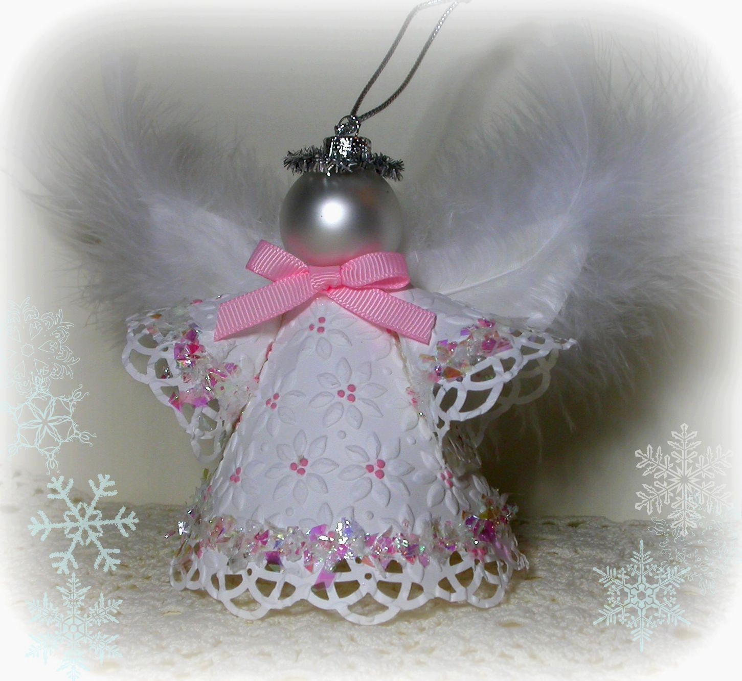 Cute angel ornaments to make paper angel ornament diy craft cute angel ornaments to make paper angel ornament jeuxipadfo Images