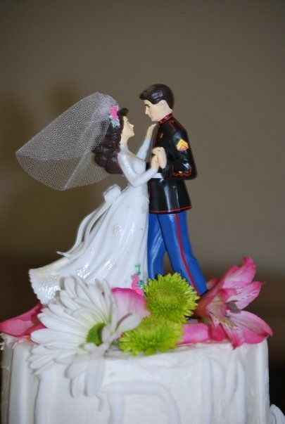 Marine wedding cake topper :) This was ours too! My awesome ...