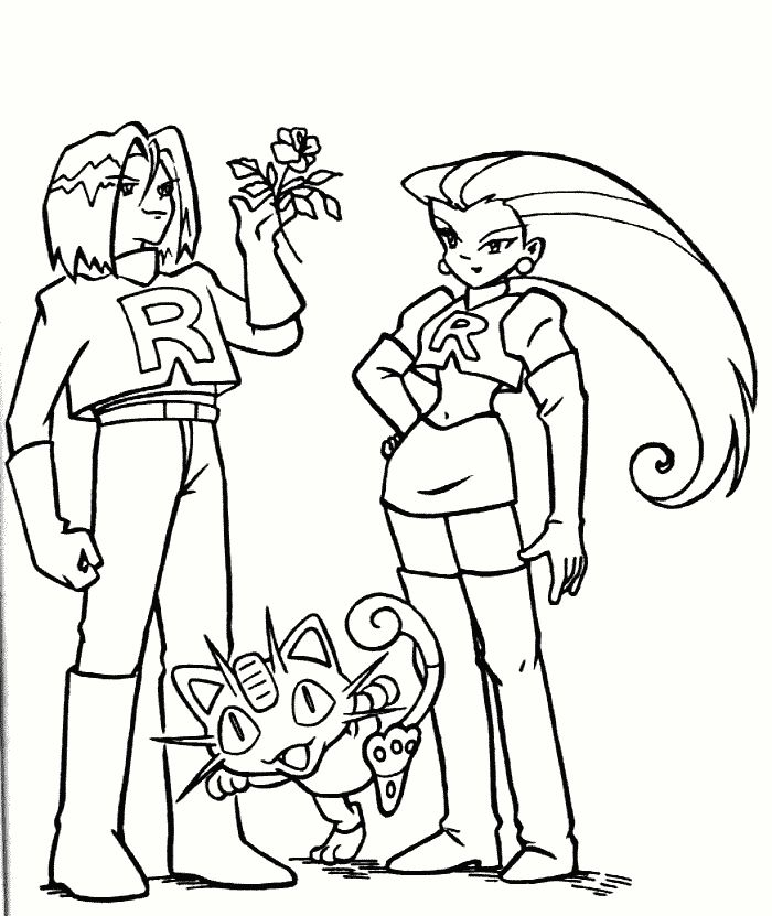 pokemonkleurplaten Team Rocket