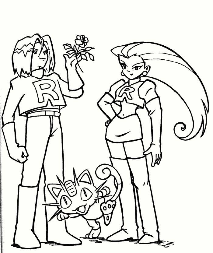 pokemonkleurplaten - Team Rocket http://www.pokemon-kleurplaat.nl ...
