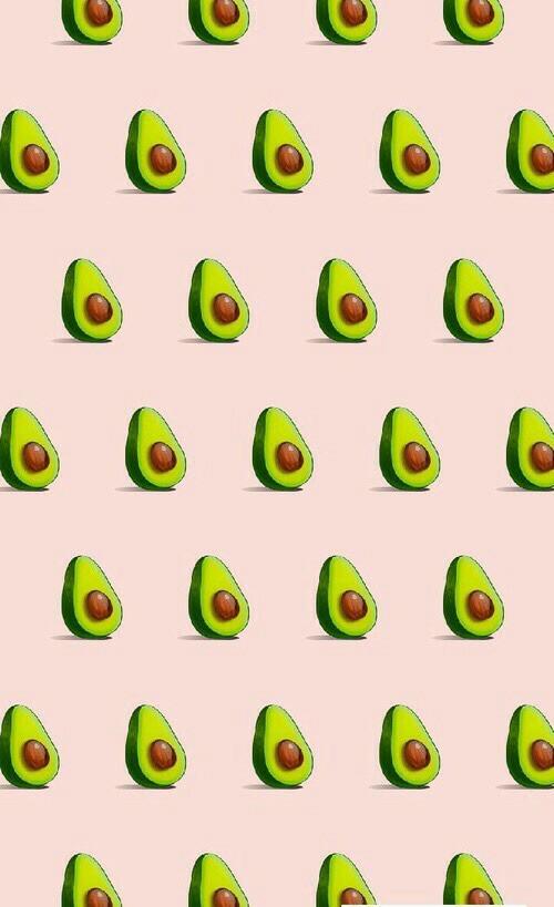 imagen de avocado wallpaper and pink rosas papel de