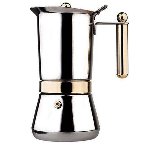 Vev Vigano Vespress Oro 4 Cup Stainless Steel Stovetop Espresso Maker