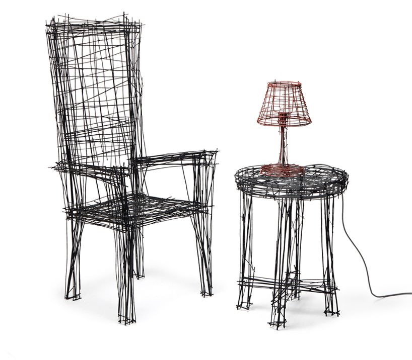 Jinil Park Materializes Drawing Furniture Series Using Wire Iconic
