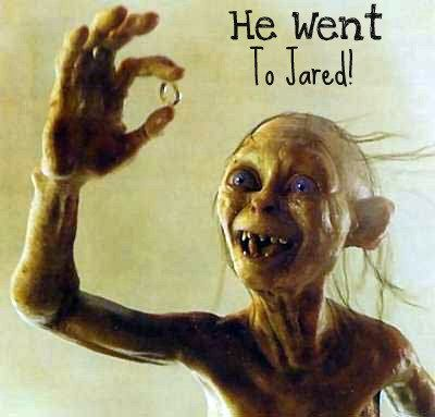 He Went To Jared Lord of the Rings humor lotr jewelry humor