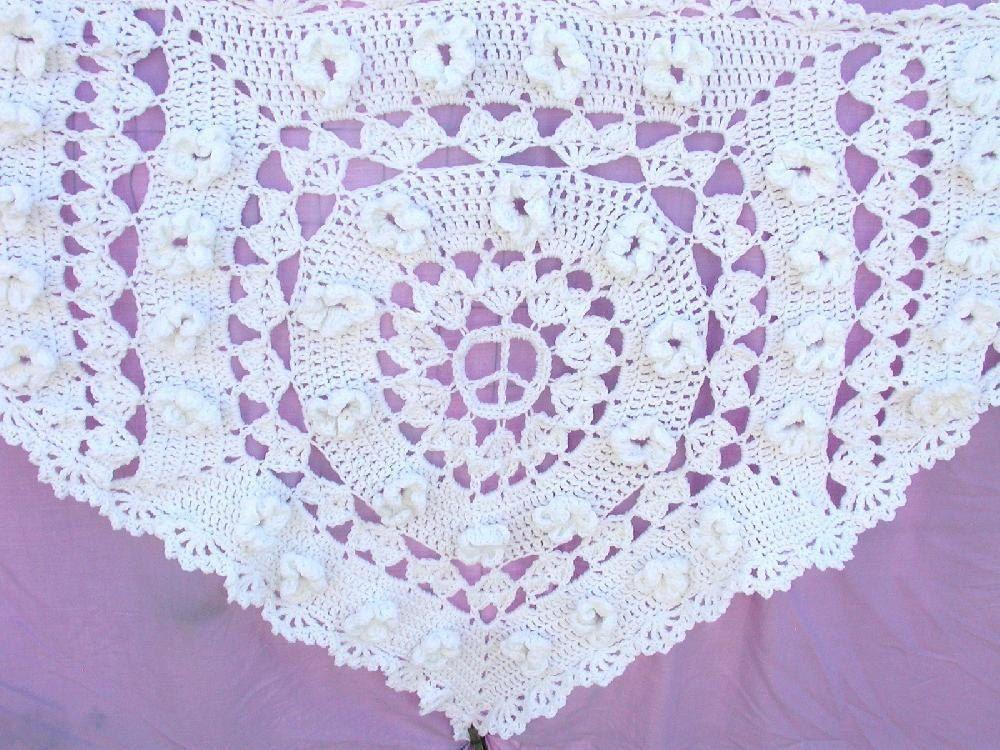 Hippie Wedding Shawl Crochet pattern by Spider Mambo ...
