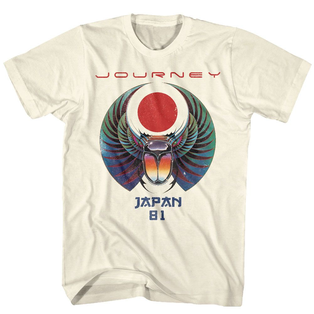 Journey Escape Album World Tour 1981 Men/'s T Shirt Glam Rock Band Concert Merch