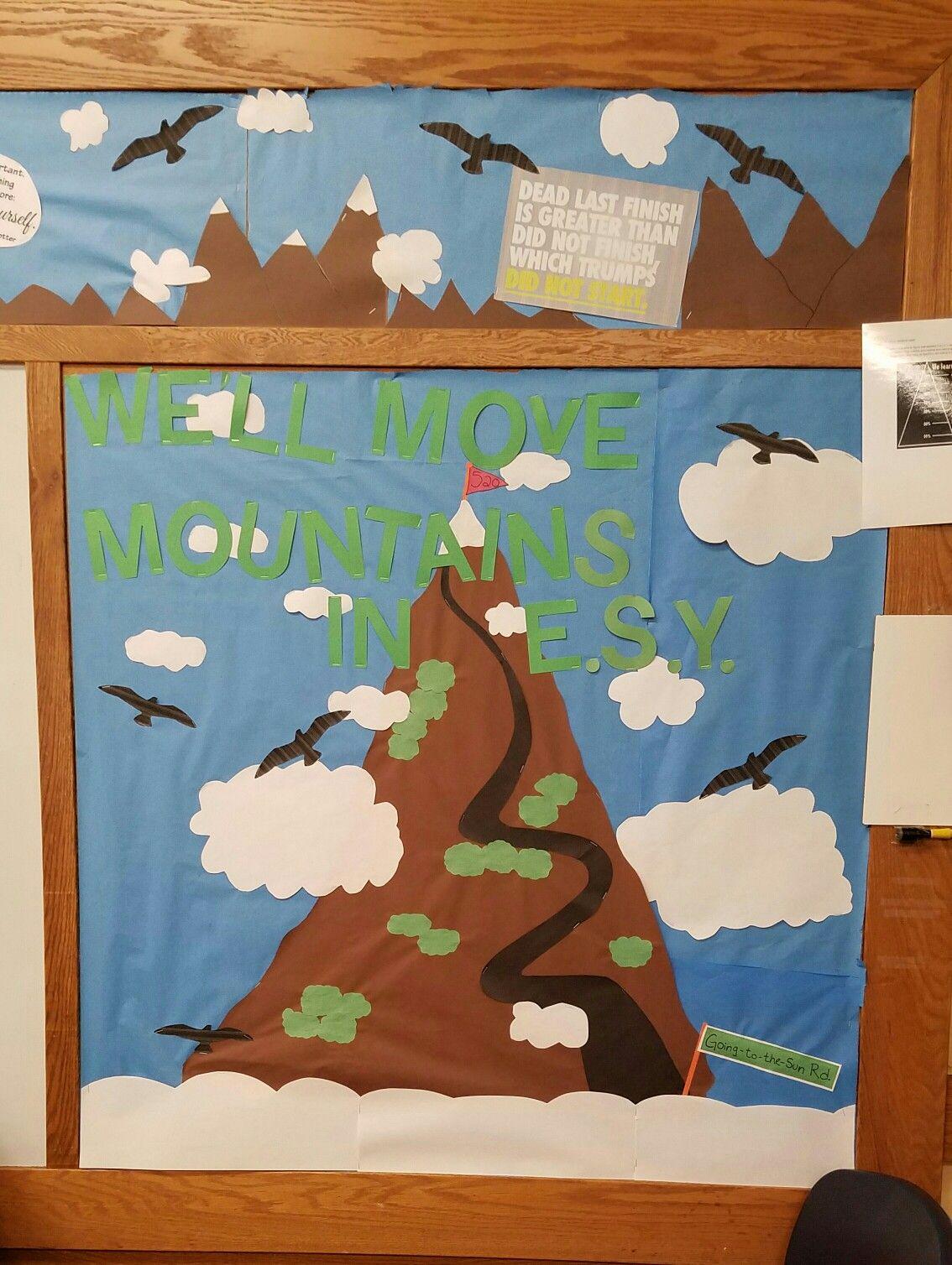 Bulletin board decoration for classroom. Glacier national