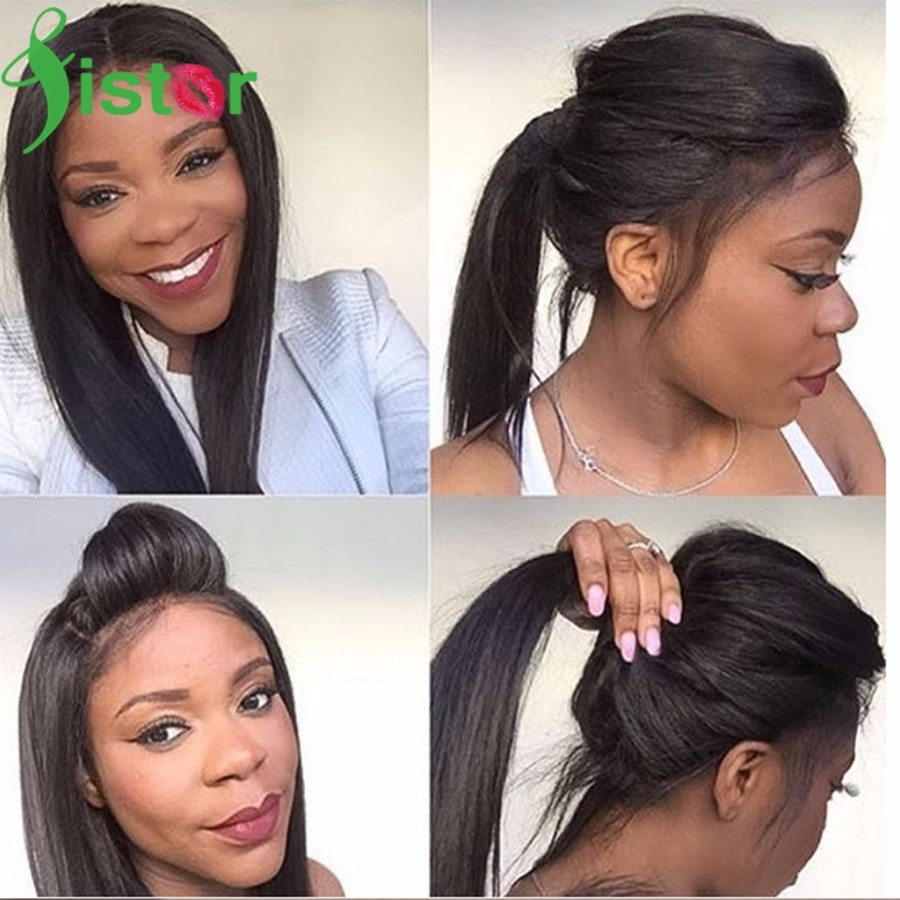 56.54$  Watch here - http://ali2re.worldwells.pw/go.php?t=32774384556 - Lace Frontal 360 Lace Virgin Hair Lace Frontal Closure Brazilian Straight Frontal With Baby Hair 360 Lace Frontal Pre Plucked 8A 56.54$