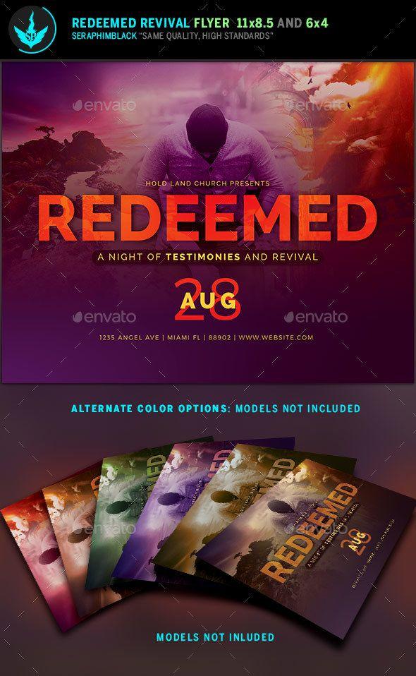 Redeemed Revival Church Flyer Template Flyer template, Template - church flyer template