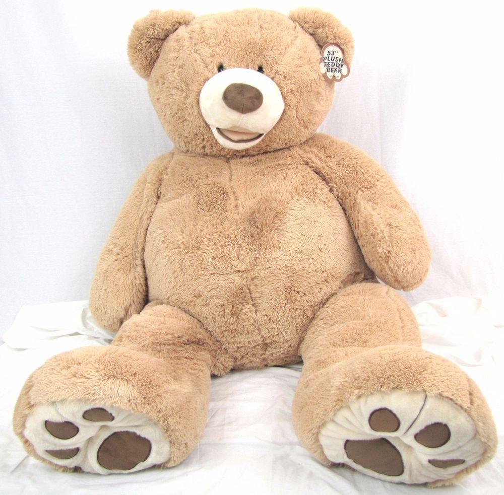 "Hugfun Teddy Bear 53"" Costco Giant Life Size Plush Beige"