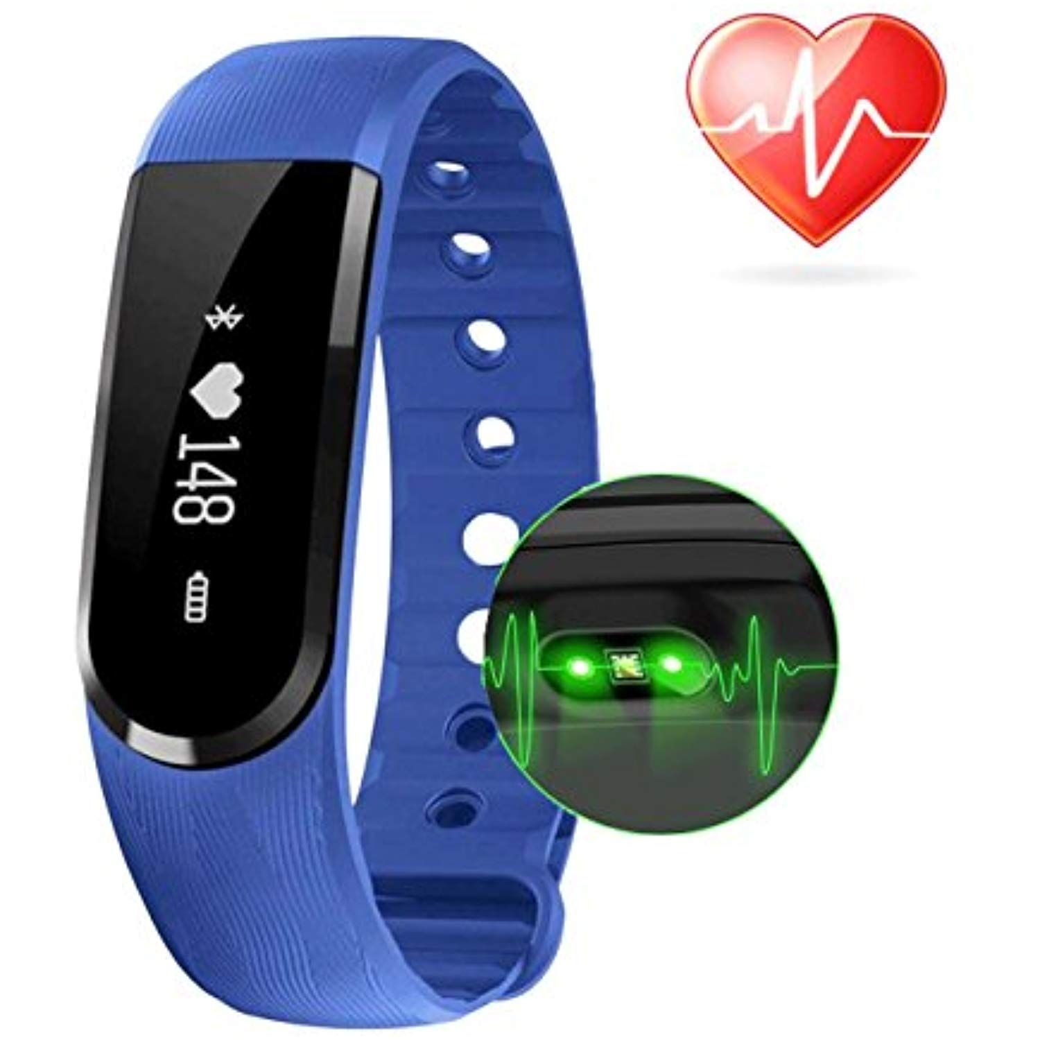 Fitness Tracker Heart Rate Monitor,COOLEAD ID101HR