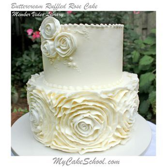 Buttercream Ruffled Roses Cake~A Video Tutorial #cakedecoratingvideos