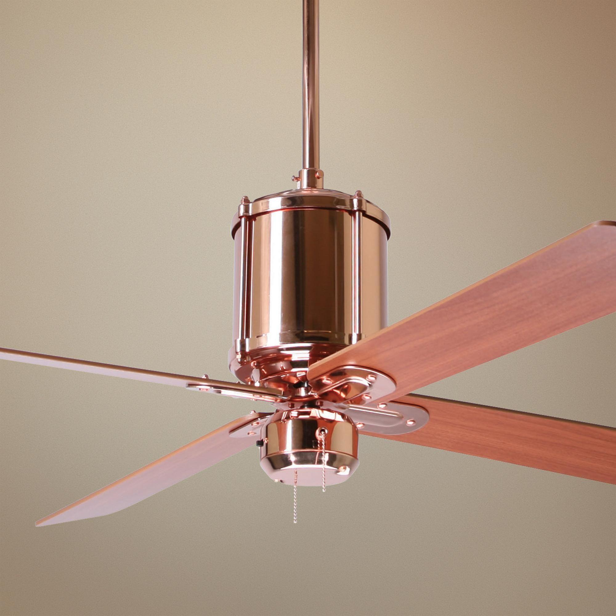 52 Industry Polished Copper Ceiling Fan Lampsplus