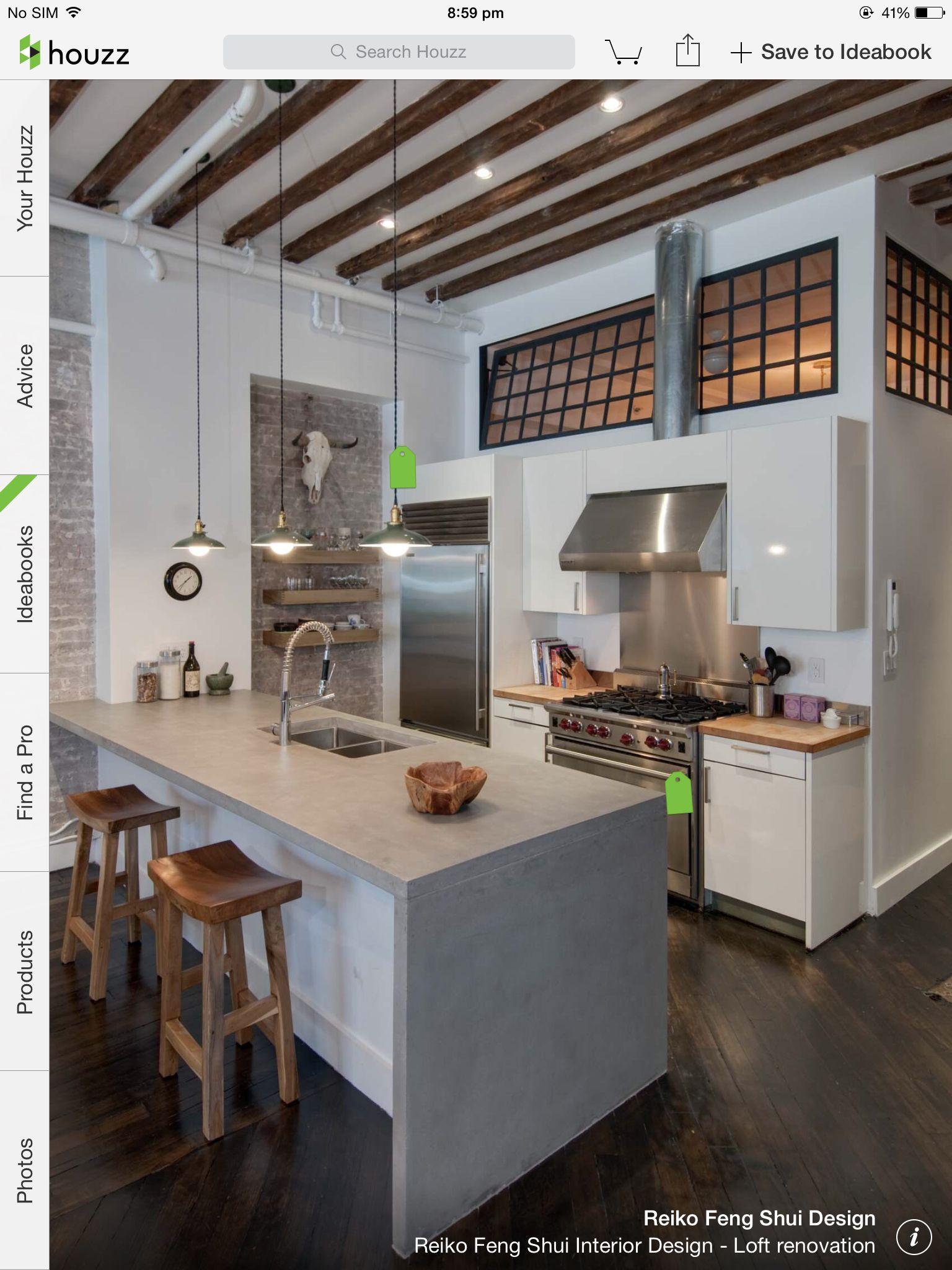 Loft bedroom windows  Loft kitchen with bedroom windows  Amazing apartments  Pinterest