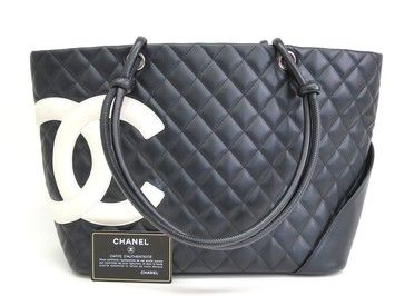 007685317b7 Chanel Cambon Leather Black White Tote Bag. Get one of the hottest styles of