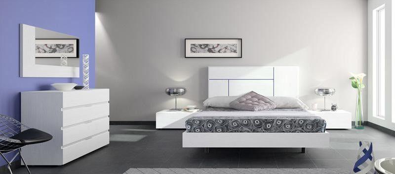 Dormitorio moderno blanco ideas para el piso pinterest for Dormitorios modernos en blanco y plata